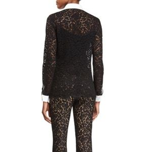 NEW! Michael Kors Embellished Lace Button Down